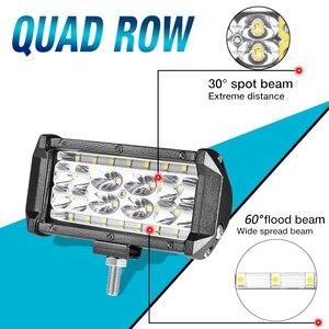 Image 5 - Aeobey 2pcs 5inch 28 led light bar 8400 Lumen Led headlight for off road 4x4 4WD ATV UTV SUV 12V 24V Car light work light bar