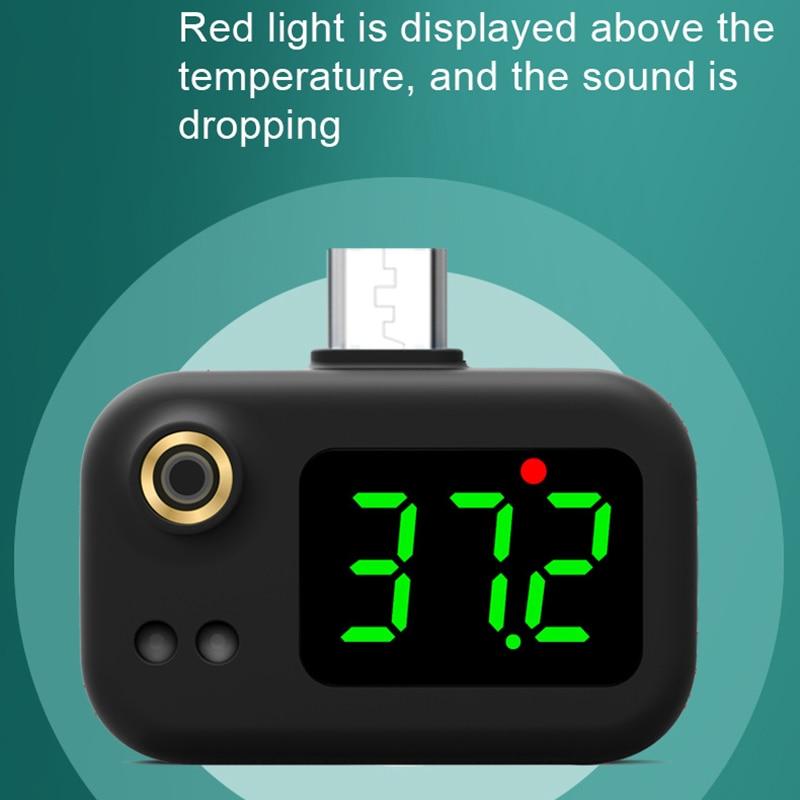 Мобильный телефон измерение температуры человеческого тела мини карманный портативный клинический термометр ушной термометр для измерен...