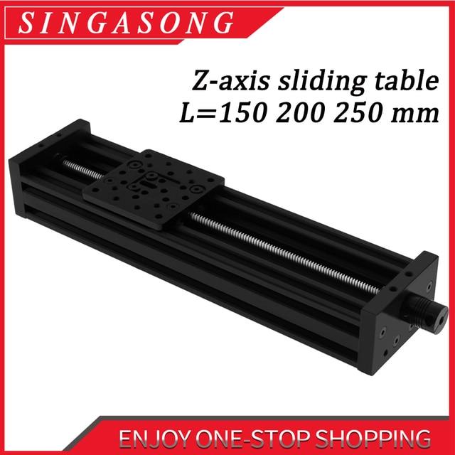 Imprimante 3d openbuild z axis vis sans fin T8 Z axe bricolage c beam CNC Table coulissante 150mm 200mm 250mm actionneur linéaire Kit faisceau