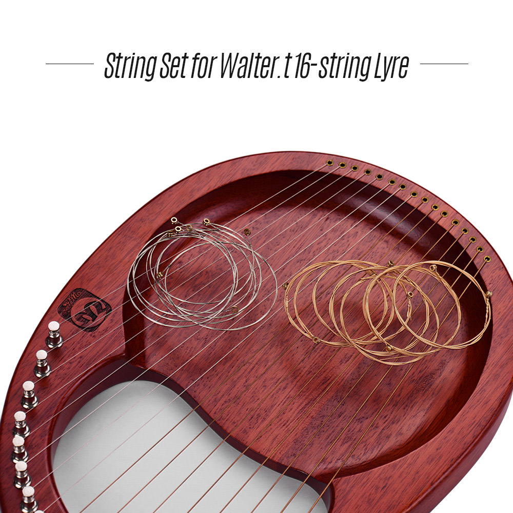 16pcs/set A16X Lyre Harp Strings Set For Walter.t WH-16 16-string Lyre Harp Neccessaries Strings Aeccessaries