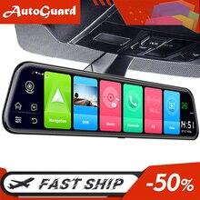 12 дюймов 4G Автомобильное зеркало заднего вида Android 8,1 FHD Автомобильный видеорегистратор зеркало WiFi GPS навигация Даш камера ADAS Dashcam Авто Регис...