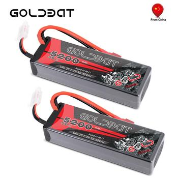 2units GOLDBAT Lipo Battery for RC 5200mAh 7.4V 50C 2S LiPo Battery with Deans XT60 Plug for RC Car Truck Truggy Tank Helicopt