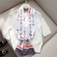 2020NEW Elegant long Imitation silk Scarf for Women All-match Top Quality fashion Digital printing Small satin girl neckerchief