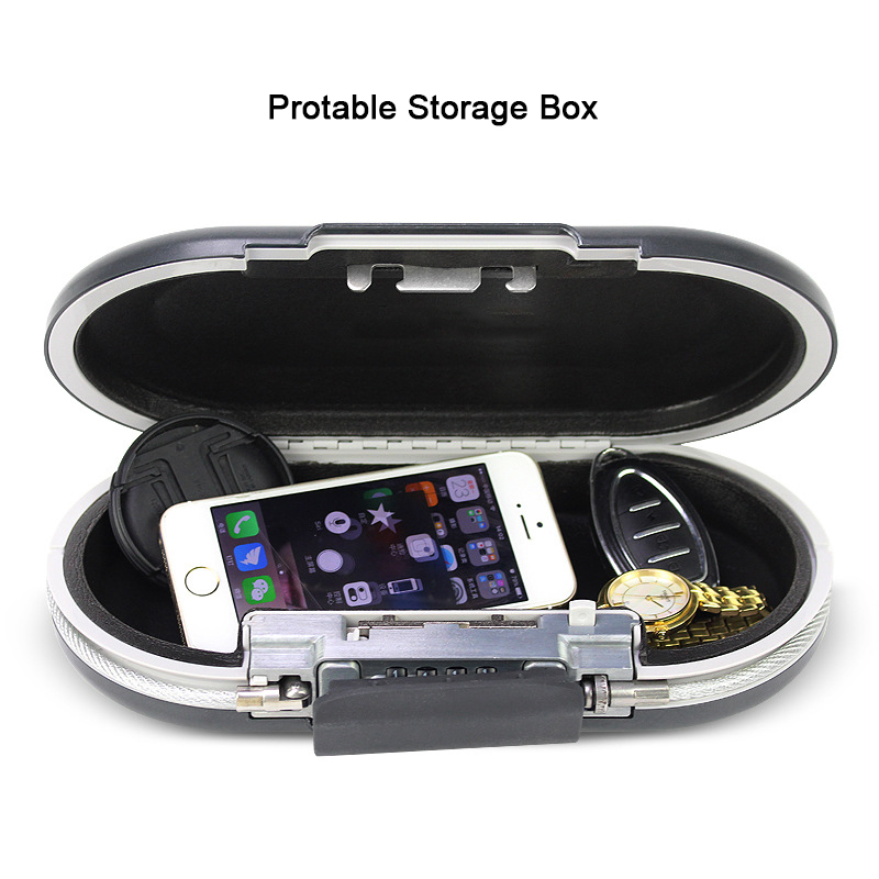 Mini Safe Box Security Portable Personal Safe Password Lock Jewelry Cash Card Phone Small Storage Boxes With Wire Rope