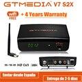 DVB-S2 Gtmedia V7 S2X спутниковый декодер 1080P DVB-S2 обновлен Gtmedia V7S HD включают в себя USB Wi-Fi, H.265 Gtmedia V7S2X нет приложения