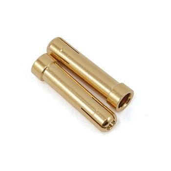 10 шт./лот 5 мм до 4 мм цилиндрический редуктор разъемы Позолоченные вилки для RC автомобиля ESC батареи