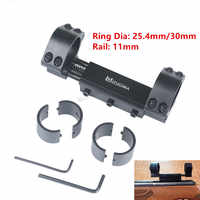 """Zero Recoil Mount Scope Mount 25.4mm 1"""" / 30mm Rings w/Stop Pin fit 11mm Dovetail Picatiiny Rail Weaver Hunting Base no logo"""