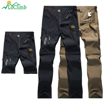 LoClimb Outdoor Hiking Pants Men/Women Stretch Quick Dry Waterproof Trousers Man Mountain Climbing/Fishing/Trekking Pants AM051 ray grace winter outdoor trekking hiking softshell pants women waterproof mountain climbing thermal trousers female pantalon