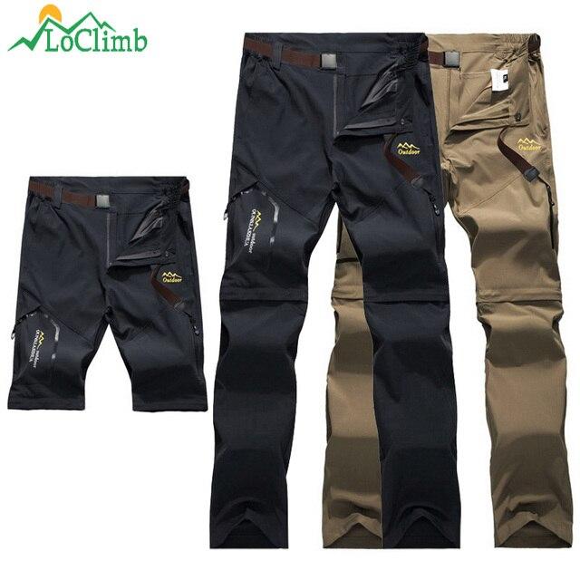 LoClimb Outdoor Hiking Pants Men/Women Stretch Quick Dry Waterproof Trousers Man Mountain Climbing/Fishing/Trekking Pants AM051