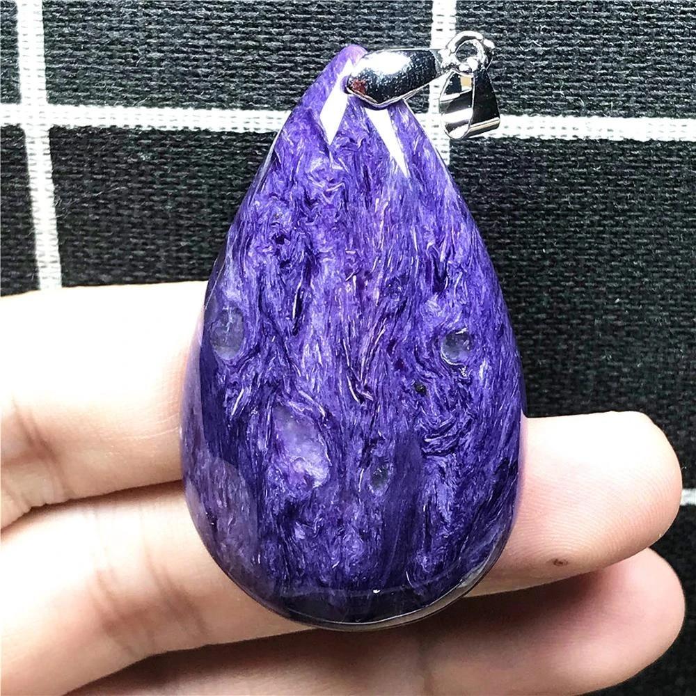 CHAROITE Crystal Pendant Genuine Natural Charoite Gemstone Healing Crystal Jewelry