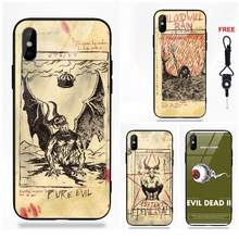 Art Evil Dead Book Poster For Redmi 5 Note 5A 6 For Galaxy S8 S9 Plus Huawei Honor 7X P20 Lite Mate 10 Pro Tempered Glass Case(China)