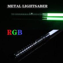 2020 novo sabre de luz rgb piscando espada cosplay sabre luz de metal ao ar livre crianças brinquedo adulto luz presente