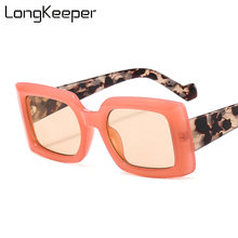 New luxury square sunglasses women men brand designer vintage