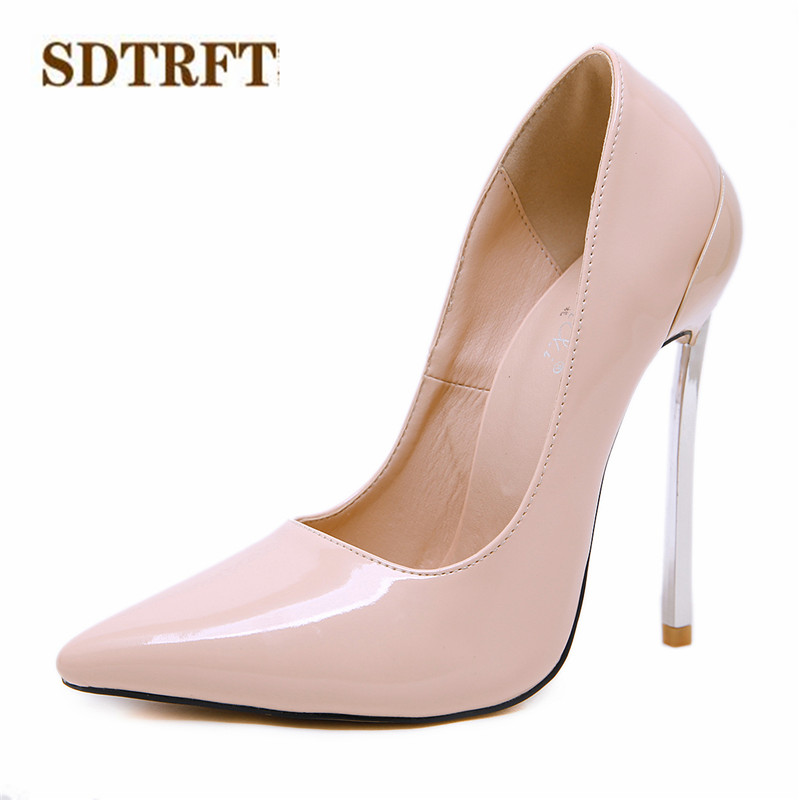 SDTRFT shoes woman Spring Autumn zapatos mujer Stiletto female Fashion 14cm thin high heels Shallow Mouths Pointed Toe pumps