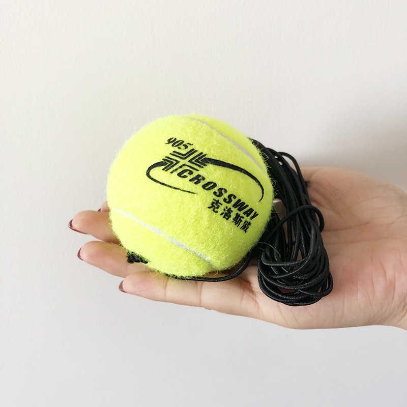 1 takım ağır görev tenis eğitim yardımları aracı ile topu uygulama kendinden hizmet ribaund eğitmen ortağı Sparring cihazı süpürgelik