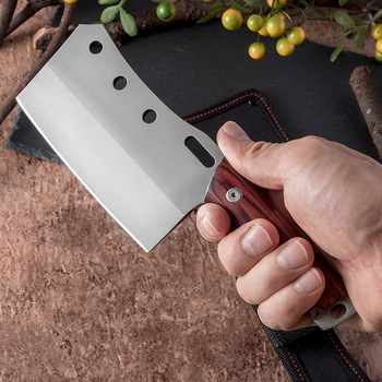 Shuoji Outdoor Chef Knife Camping Hunting Survival Knife Pocket Stainless Steel Kitchen Knives Fixed 5Cr15mov Blade Belt Sheath 5