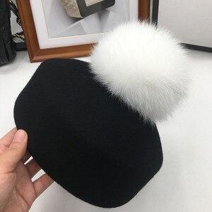 Image 4 - Осенняя и зимняя мода маленькие фетровые шерстяные фетровые шляпы джазовая шляпа свернутый подол