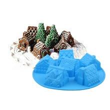 Удобный Силиконовый DIY плесень с 6 модулей и дом Тип для Создание кубика льда конфеты Шоколадный Торт Cookie Кухня выпечки инструмент