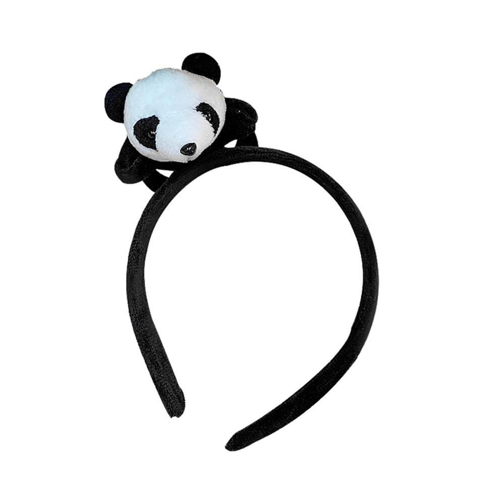 Cartoon Cute Little Panda Hair Band Headband Panda Brooch Women   Headwear   Headband in Women's Hair Accessories #4A07