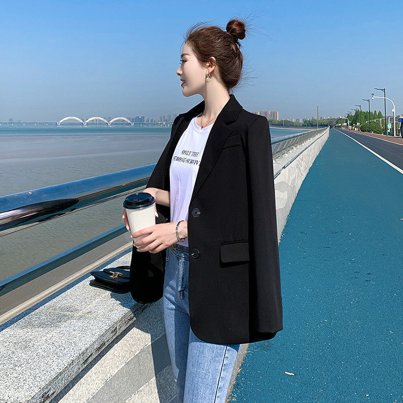 Suit Jacket Female 2020 New Korean Style All-match Spring and Autumn New Net Red Casual Short-Height Suit British Style
