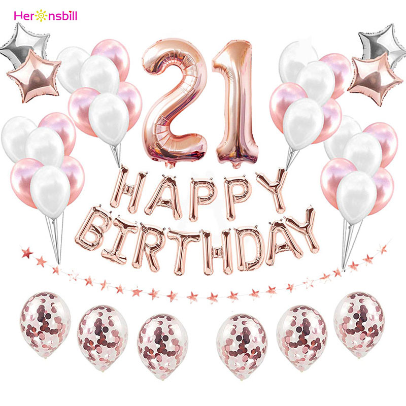 37pcs 1st 1 2 3 4 5 6 7 8 9 10 18 21st 30 40 50 Years Happy Birthday Number Balloons Set Party Decorations Adult Kids Boy Girl-in Ballons & Accessories from Home & Garden