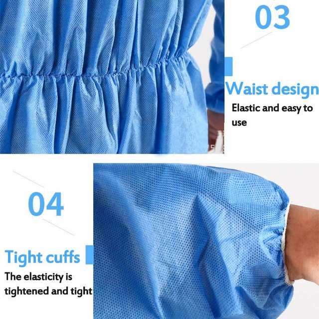 Protective Clothing Waterproof ppe suit Protective Gown Clothing FluidResistant Impervious 4