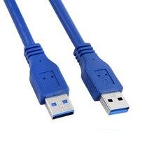 2019 ความเร็วสูง USB 3.0 A ประเภทชายชาย M/M USB Cable AM TO AM 4.8 gbps รองรับ USB 2.0 0.3M/0.5M/1M/ 1.5M/1.8M/3M