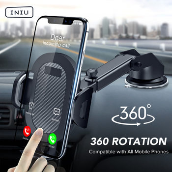 INIU Sucker Car Phone Holder Mount Stand GPS Telefon Mobile Cell Support For iPhone 12 11 Pro Max X 7 8 Plus Xiaomi Redmi Huawei 1