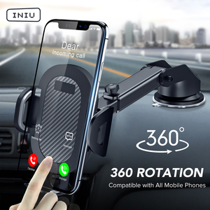 INIU Sucker Car Phone Holder Mobile Phone Holder Stand in Car No Magnetic GPS Mount Support For iPhone 11 Pro Xiaomi Samsung(China)