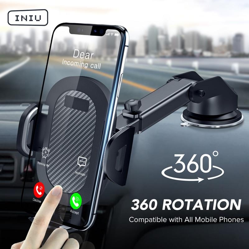 Iniu Sucker Auto Telefoon Houder Mobiele Telefoon Houder Stand In Auto Geen Magnetische Gps Mount Ondersteuning Voor Iphone 11 Pro xiaomi Samsung|Mobiele telefoon houders & Standaarden|   - AliExpress