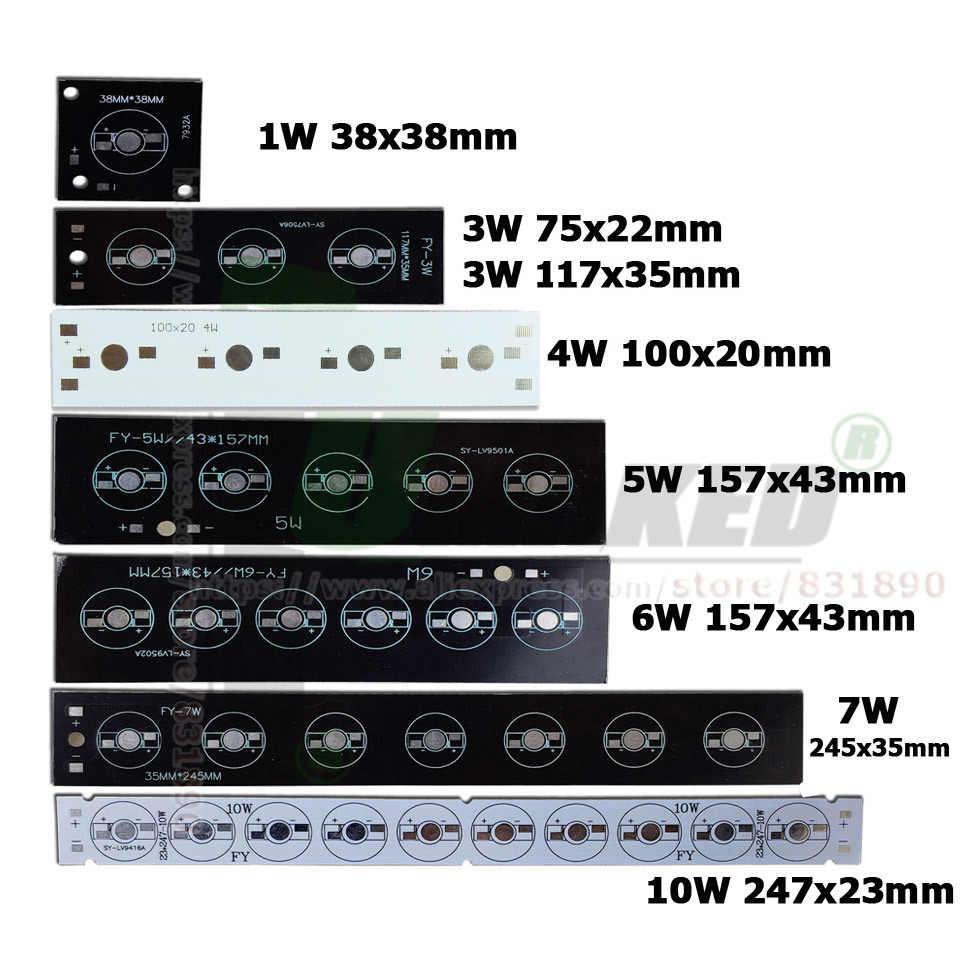 LED PCB 1/3W LED Ad Alta Potenza Piastra di Aluminun Proiettore Base installata dissipatore di calore 1W 3W 5W 6W 7W 9W Bar Striscia di PCB Per Acquario Luce