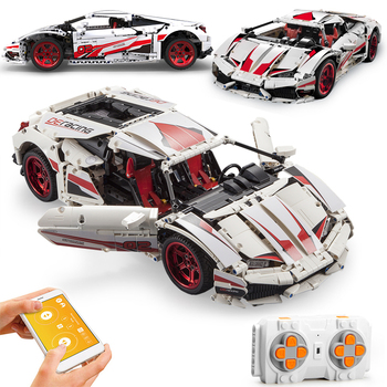 City APP RC Remote Control Endurance Car Racing Sports Vehicle Building Blocks Racer Supercar Bricks Children Toys Gifts 1