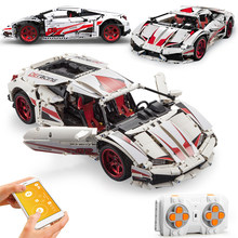 La ciudad de APP RC Control remoto resistencia coche deportes de competición Vehículo de bloques de construcción Racer Supercar ladrillos juguetes para niños regalos