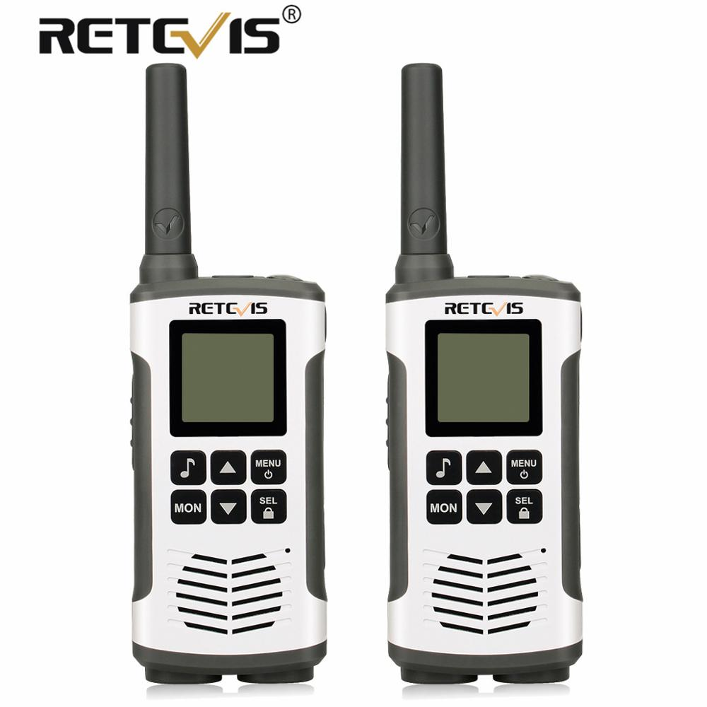 Retevis RT45 Walkie Talkie 2pcs Portable PMR446 Walkie-Talkie UHF Radio Station Communicator For Camping Hiking USB Charaging