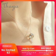 Thaya Original Elf Haus Design s925 Silber Fenster Halskette Bunte Kristall Perle Anhänger Halskette für Frauen Klassische Schmuck