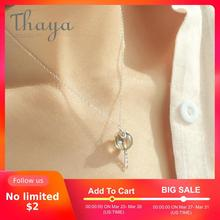 Thaya Original Elf House Design s925 Silver Window Necklace Colorful Crystal Bead Pendant Necklace for Women Classic Jewelry