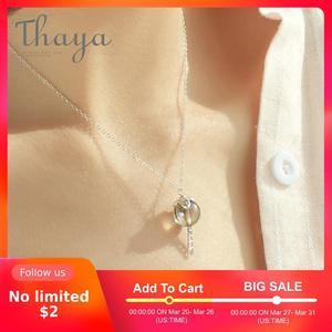 Image 1 - Thaya Original Elf House Design s925 Silver Window Necklace Colorful Crystal Bead Pendant Necklace for Women Classic Jewelry
