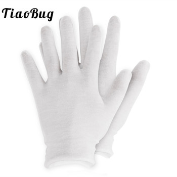 12 Pairs White Thin Reusable Elastic Soft Cotton Gloves Dry Hands Moisturizing Cosmetic Hand Spa Coin Jewelry Inspection Glove - discount item  27% OFF Gloves & Mittens