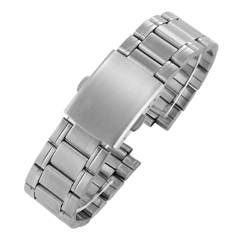 16mm 18mm 20mm 22mm 24mm Stainless Steel Links Watch Bands Strap Wristwatch Clasp Bracelet Replacement Light Weight Band