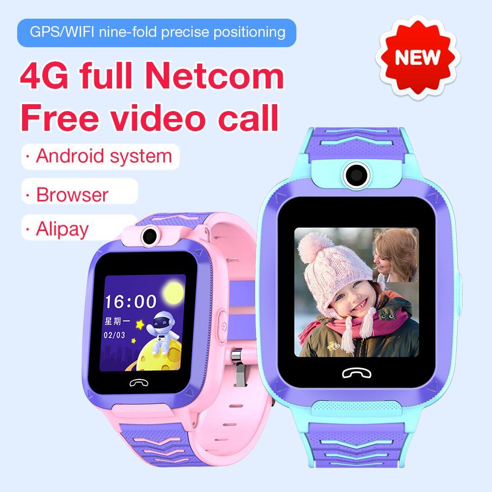 Nouveau 4G enfants montre intelligente téléphone vidéo Chat surveillance à distance enfants montre intelligente étanche enfant téléphone SOS appel garçon fille adolescent