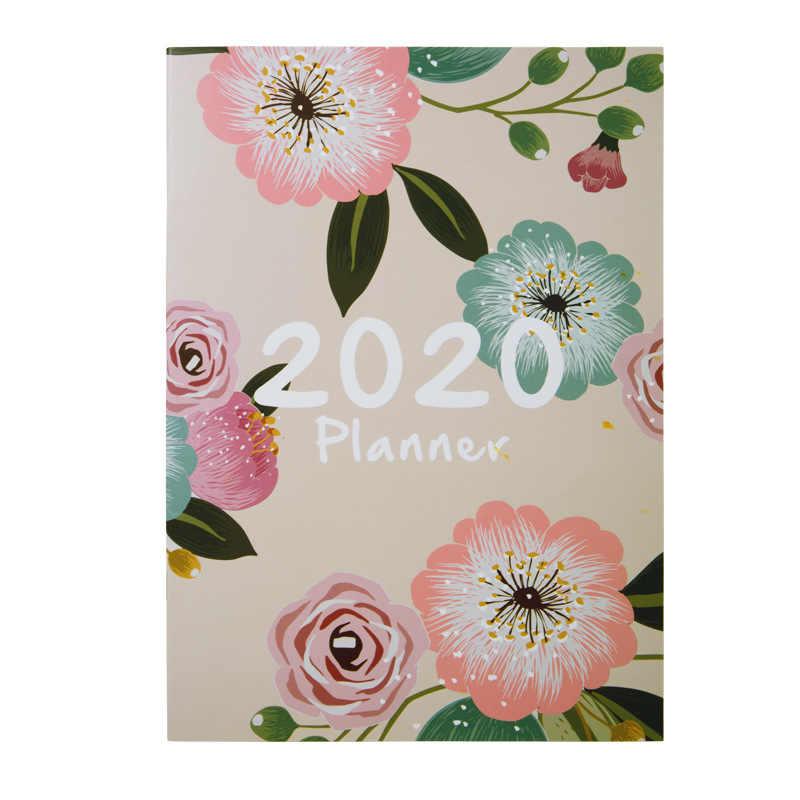 2020 מתכנן סדר יום מארגן A4 יומן חודשי שבועי מחברת וכתב העת Kawaii שחור בחזרה בית ספר הערה ספר נסיעות Handbook