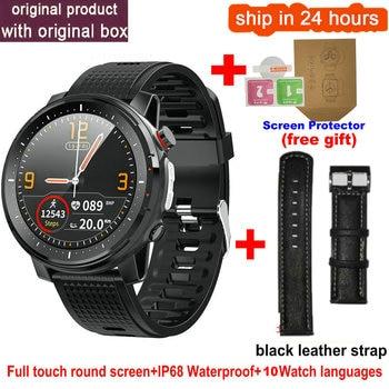 L15 Smart Watch Men 1.3inch Full-fit Round Retina Display Music Control Camera Flashlight PK L5 L9 Smartwatch IP68 Waterproof 14