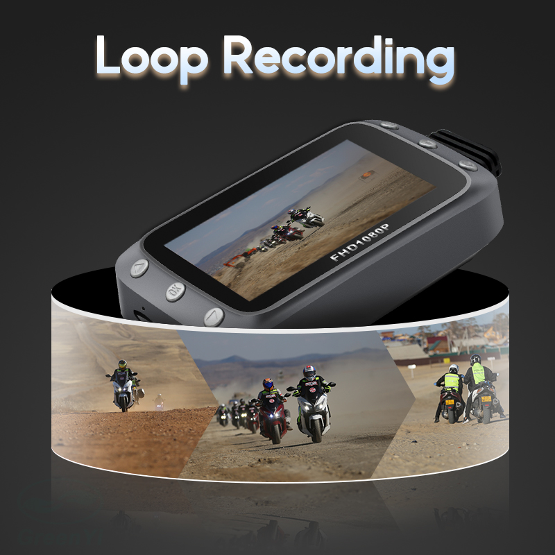 GreenYi WiFi Motorcycle DVR Dash Cam 1080P+1080P Full HD Front Rear View Waterproof Motorcycle Camera GPS Logger Recorder Box 2