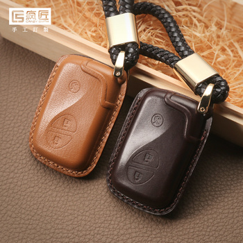 2020 NEW Hand Sewing High Grade Full Grain Genuine Leather Smart Car Key Case Cover for Lexus CT200/ES/RX/GS