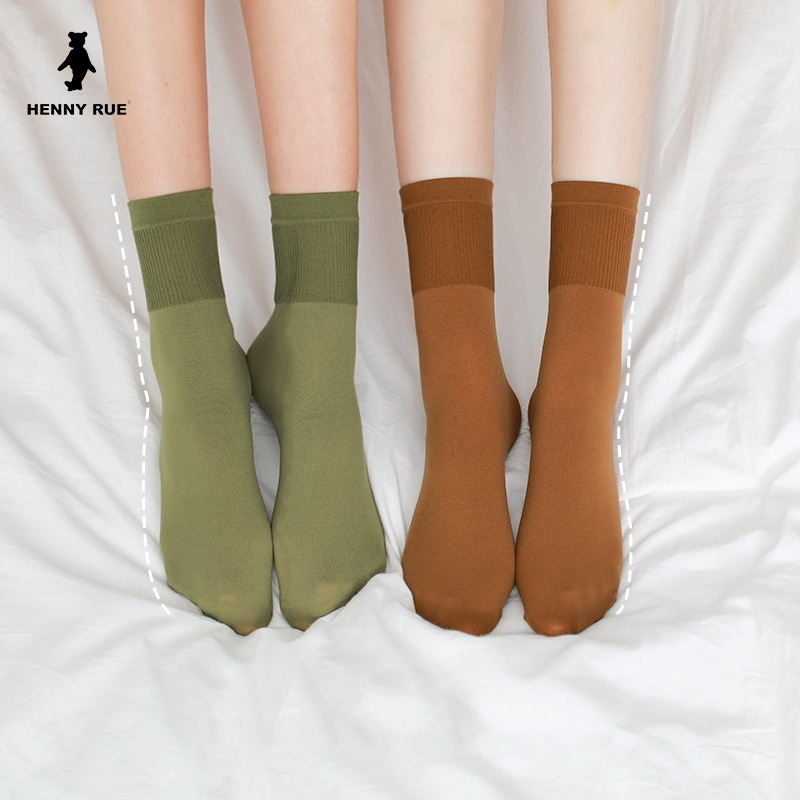 Women's Socks 2020 Spring New Long Color Socks Candy Color Breathable Soft Thin Women Fashion Socks For Women Korea Style