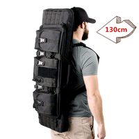 52 inches Military Hunting Sport Bags 600D Oxford Dual Cabbeen Functional Bag Army CS Gun Rifle Bag for Air Range Backpack Bag