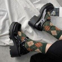 Sapatos mary jane de couro pequenos para mulheres, sapatos femininos estilo japonês de salto alto retrô e plataforma, 2020