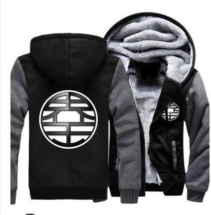 Зимние куртки и пальто Dragon Ball Z худи Аниме Сон Гоку с капюшоном Толстая молния мужские толстовки Длинный свитшот - 6
