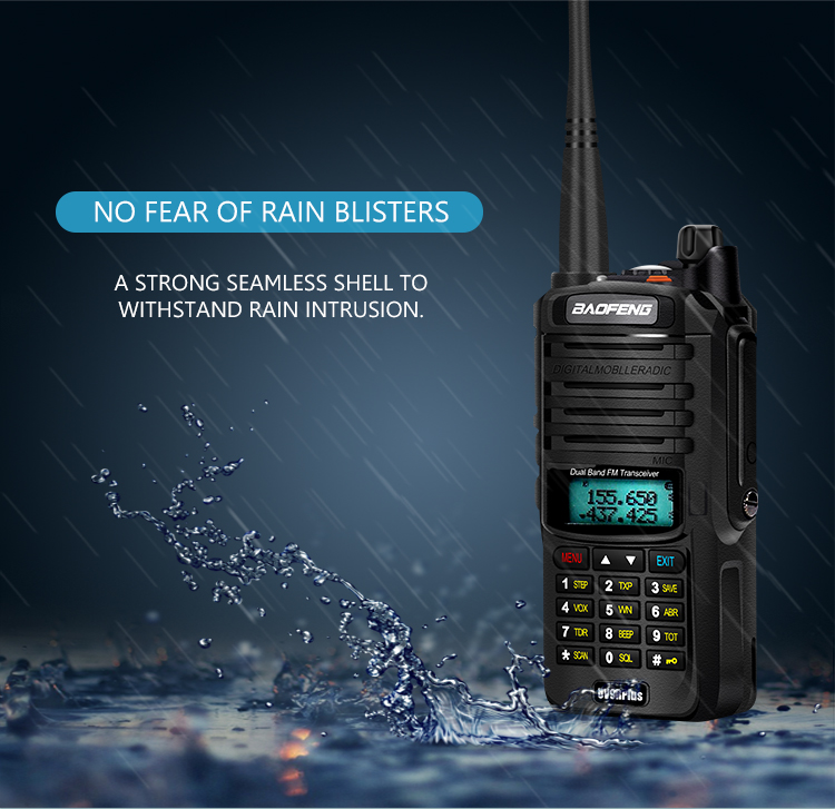2pcs 8000mah 10W Baofeng UV-9R plus waterproof walkie talkie for CB ham radio station 10 km two way radio uhf vhf mobile plus 9r (30)