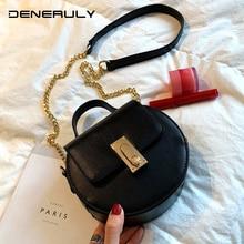 2019 Round Leather Bag Women Famous Brand Woman Handbags Elegant Crossbody Bag New Girl Shoulder Bag Chain Luxury Small HandbagS цена